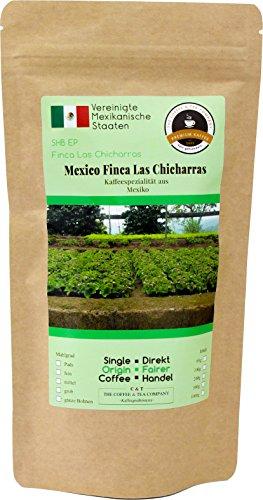 Kaffee Globetrotter - Kaffee Mit Herz - Mexico Finca Las Chicharras - 200 g Grob Gemahlen - für Stempel-kanne French-Press Kaffeebereiter - Spitzenkaffee Fair Gehandelt Unterstützt Soziale Projekte