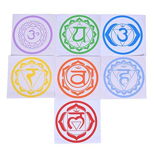 Hongma 7x Wandsticker Yoga Meditation Selbstklebende Abnehmbaren Kunst Aufkleber Dekorateur