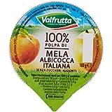 Valfrutta - 100% Polpa di Albicocca e Mela, senza zuccheri aggiunti e glutine - 60 vaschette da 100 g