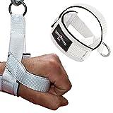 1 Stück Einhand Kabelzug Griffe / Trainings Griff / Latzug Einhandgriff WEIß inkl. Karabiner