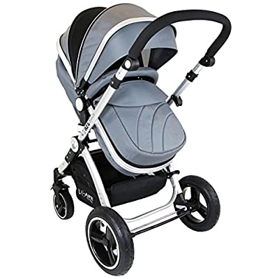 iSafe Baby Pram System 2in1 - Grey [pro.tec]