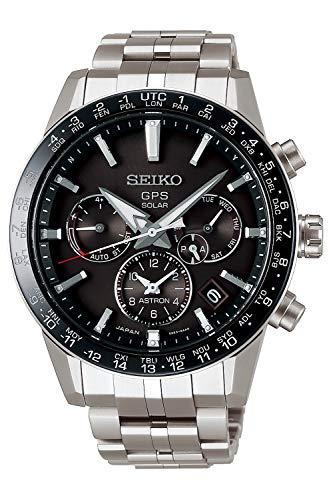 Seiko astron Herren Uhr analog Solar mit Edelstahl Armband SSH003J1