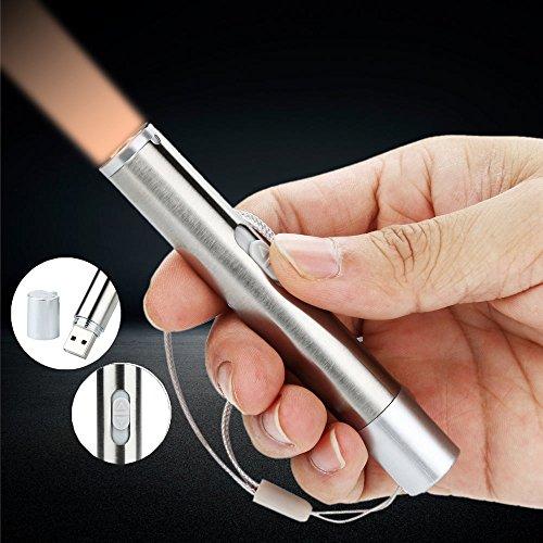 AmyGline LED Taschenlampe USB Wiederaufladbare Taschenlampe Mini Small Flashlight Taschenstiftlicht Medizinische kleine Taschenlampe