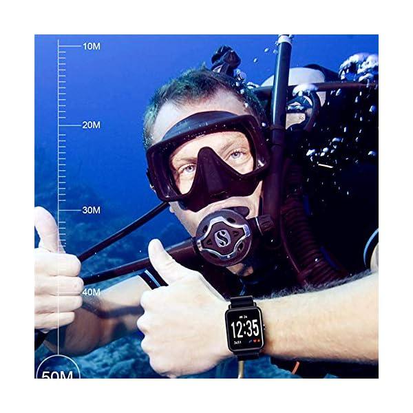 Fitness Tracker IP68 Impermeable Monitor, Letopro Rastreador de Pulsera Actividad Smartwatch Soporte Monitor de ritmo cardíaco Podómetro de presión arterial para Android IOS Mujeres Hombres 6