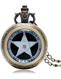 Marshal : Pocket Watch Trendy Men Gift United States Cool Fashion Hot Army Special Force/Delta Force/Cobra/Marshal...