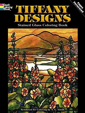 Tiffany Designs Stained Glass Coloring Book