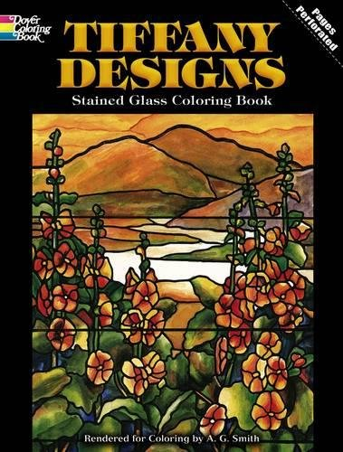 Tiffany Designs Stained Glass Coloring Book (Dover Design Stained Glass Coloring Book) -