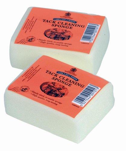x2 Belvoir Tack Cleaning Saddle Soap Sponge 10cm x 7 cm (Pack of 2 Sponges) 1