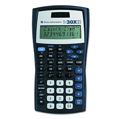 Texas Instruments TI-30X IIS calcolatrice Tasca Calcolatrice scientifica Nero
