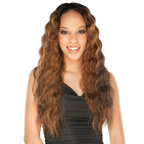 ATALYA (1B Off Black) - Shake N Go Equal Lace Front Deep Invisible L Part Synthetic Hair Wig by Freetress