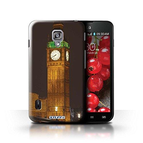 Kobalt® Imprimé Etui / Coque pour LG Optimus L7 II Dual / Big Ben conception / Série Londres Angleterre Big Ben