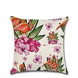 Excelsio Funda de cojín de flamenco rosa tropical para sofá