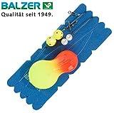 Balzer Inline Plattfisch Blinker System orange/gelb - Meeresmontage zum Plattfischangeln,...