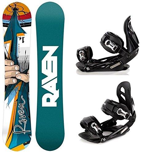 Snowboard Set: Snowboard Raven Dart + Bindung Raven s250 Black M/L