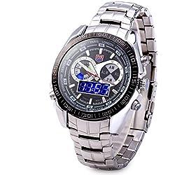 Leopard Shop TVG Seal Elite Military Sports Watch Quartz Dual Movement Digial LED Anolog