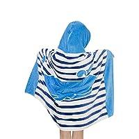 Boys Girls Hooded Beach Bath Towel - Kids 100% Cotton Bathrobe Cartoon Bath Blanket Swimming Surfing Poncho Sport Robe