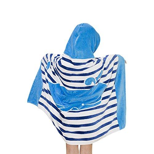 Gogokids Niños Niñas Toalla de Playa con Capucha - Bebé Bata de Baño 100% Algodón Toalla de Baño Dibujos Animados Manta de Baño Natación Toalla deportiva