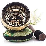 Silent Mind~ Cuenco Tibetano diseño equilibrado y armonioso ~ Ideal para la meditación, relajación, estrés y ansiedad alivio, sanación de Chakra, yoga, Zen ~ Obsequio espiritual perfecto