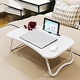 PENGFEI Laptop Betttablett Laptop-Computer Steht Tragbare Stehpult Multifunktion Praktisch Faltbar Bett Schreibtisch Künstliches Holzbrett, 60x40x28cm 2 Spezifikationen