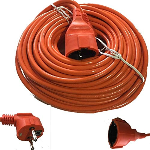 TrAdE shop Traesio® Kabel Verlängerungskabel Stecker Schuko elektrische männlich weiblich 30mt Meter 16A
