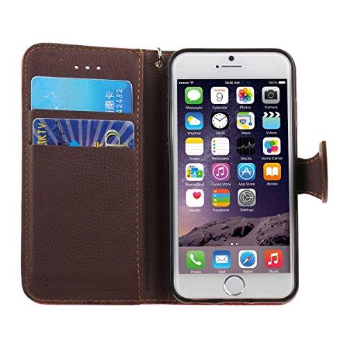 """iPhone 6S plus Wallet Case, Felfy Grün Slim Flip Folio Bookstyle Schutzhülle Case Cover für Apple iPhone 6 / 6S plus 5.5"""" Unique Baum Blatt Magnetverschluss Stil Standfunktion Kartenfach mit Abnehmbar Rot"""