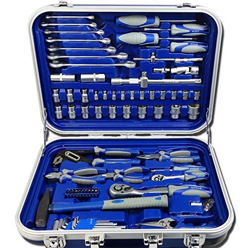 ERBA Werkzeugkoffer Steckschlüsselsatz 82 tlg. CrV im praktischen ABS - Koffer