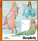 Simplicity Schnittmuster 4043 Kinder und Mädchen, Miss Meerjungfrauen-Kostüm