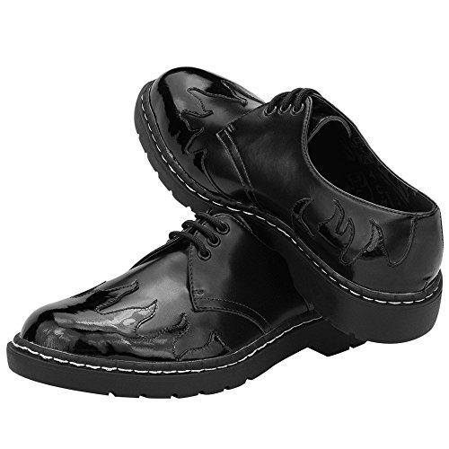 T.U.K. Shoes Men's Mens Gibson Black With Black Flames Black