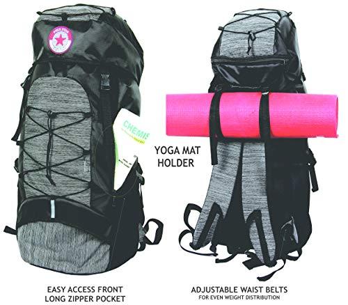 POLESTAR Flyer Black 55 ltrs Rucksack for Hiking Trekking/Travel Backpack Image 4