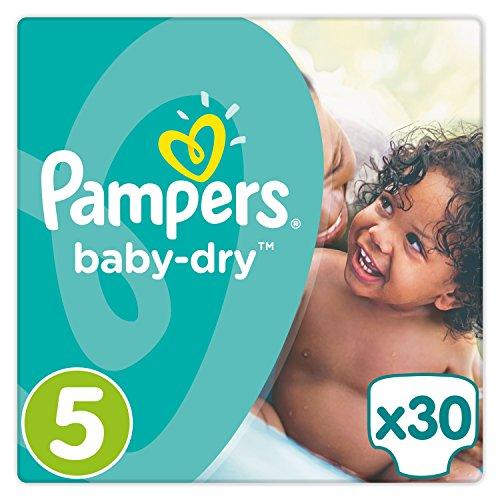 Preisvergleich Produktbild Pampers Baby-Dry Windeln Größe5 (11-23kg), Luftkanäle für atmungsaktive Trockenheit die ganze Nacht, Sparpack, 1er Pack (1 x 30 Stück)