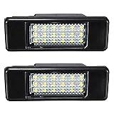 Katur Lot de 2 feux de plaque d'immatriculation 18 LED SMD pour Peugeot 106/207/307/308/406/407/508