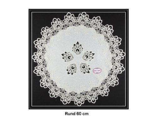 Tischläufer mit Spitze von SOUNON® - Rund ca. 60cm (Model 003) ()