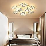 Renshengyizhan@ AC90~260V flammenförmige dimmende Lampen Lampara de techo moderne LED-Deckenleuchten für Wohnzimmer Schlafzimmer Dekor Leuchten, Durchmesser 780mm