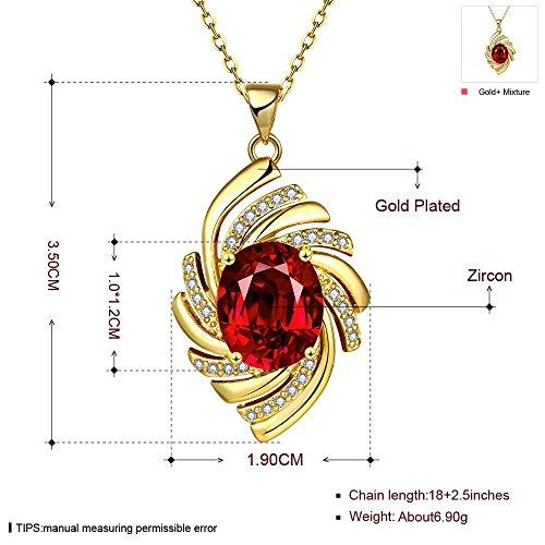 K Gold Zirkon Elegante Blume Halskette Ohrringe Ring Drei Stück Set , Gold , 7 (Hochzeit Ring 3 Stück Set)