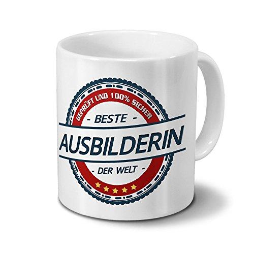 Tasse mit Beruf Ausbilderin - Motiv Berufe - Kaffeebecher, Mug, Becher, Kaffeetasse - Farbe Weiß preisvergleich