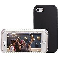 Custodia Apple iphone 7 Cover Luce Selfie Light Case di Leeron, Batteria Ricaricabile Illuminazione Regolabile - Nero