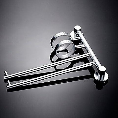 ZnzbztPlatz Aluminium Handtuchhalter bad Handtuchhalter Aktivitäten mit Handtuchhalter spülen cup Bäder, die doppelte Schale double bar Zahnbürste Handtuchhalter