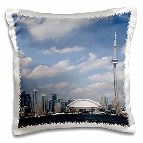 Danita Delimont - Skylines - Skyline, CN Tower, Toronto, Ontario, Canada - CN08 CMI0056 - Cindy Miller Hopkins - 16x16 inch Pillow Case (pc_135355_1)
