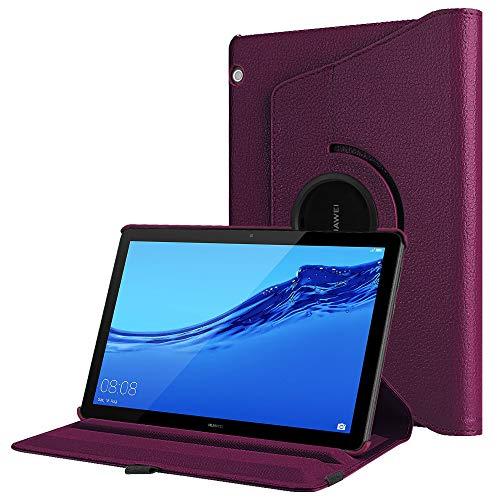 Fintie Huawei MediaPad T5 10 Hülle - Schlank 360 Grad Rotierend Stand Schutzhülle Cover für Huawei MediaPad T5 10 10.1 Zoll 2018 Modell Tablet PC, Lila