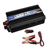 CAPTIANKN 600W Power Inverter, Peak 1000 Watts 12 VDC to 110V/220V, 1 Universal AC Socket 1 USB Port,24vto220v