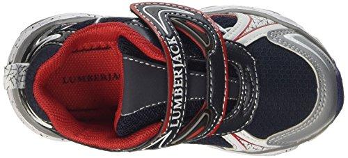 Lumberjack Wrap Bright, Sneaker a Collo Basso Bambino Blu (Grey/Black/Navy)