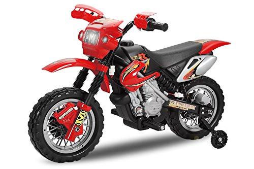 #Kinder Elektro Motorrad Enduro Bike 30W 6V Elektroauto Kinderfahrzeug Ferngesteuert Elektro (Rot) 1191176#