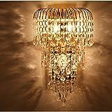 AMOS K9 Kristall Wandleuchte führte Gold Wandleuchte TV Wandleuchte