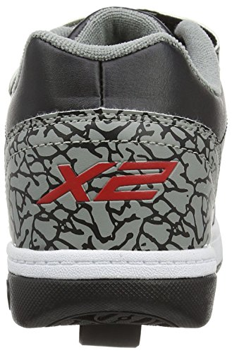 Heelys X2 Dual Up, Chaussures de Tennis Garçon Noir (Black / Grey / Elephant)