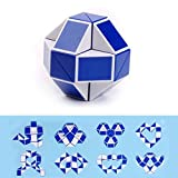 Mumustar Twist Toy Snake, 3D Magic Cube Puzzle Ruler Square Blocks Educational Speed Cube Adults Stress Reliever Children Kids Game Toy Colors Random