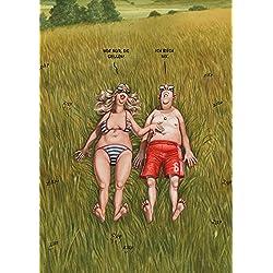Postkarte A6 • 51411 ''Die Grillen'' von Inkognito • Künstler: Gerhard Haderer • Satire