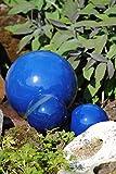 Kugel,Rosenkugel,Gartenkugel,in tollem Blau,frostfest;3er Set;(2X12cm+ 1 X 22cm)
