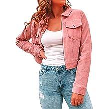 05ed25dc8991 Amazon.fr   veste femme velours - Rose