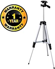 Cospex Tripod-3110 Portable & Foldable Mobile Plastic and Metal Camera with Clip Holder Bracket(1_3110.Stand, Multicolour)