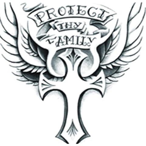 F&HY&L Croce tatuaggio adesivi impermeabile stile europeo uomini e donne persistente inglese tatuaggi tatuaggio adesivo